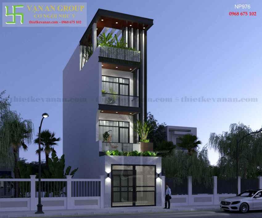 Nhà phố 4 tầng đẹp lung linh tại Tân Thịnh, Hòa Bình NP 9769