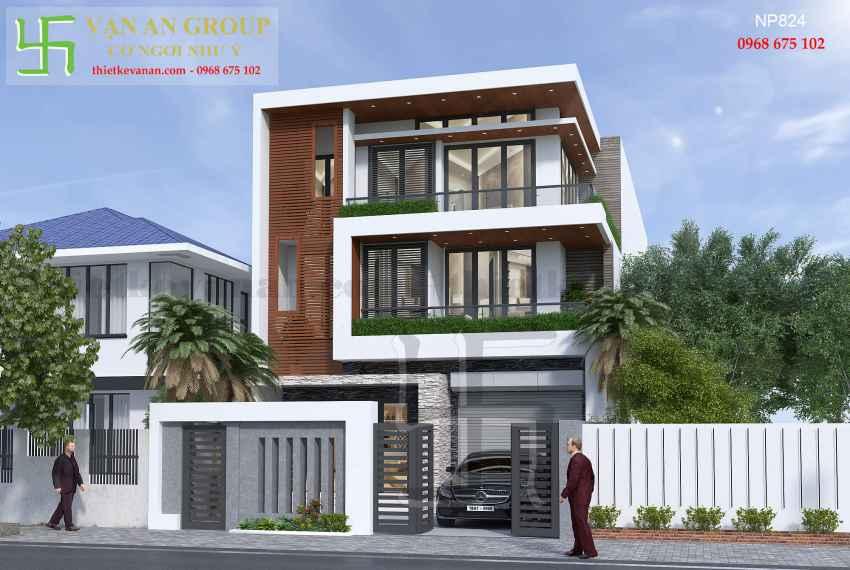 Nhà phố hiện đại 3 tầng đẹp tại Tp Phan Rang, Ninh Thuận NP 8241