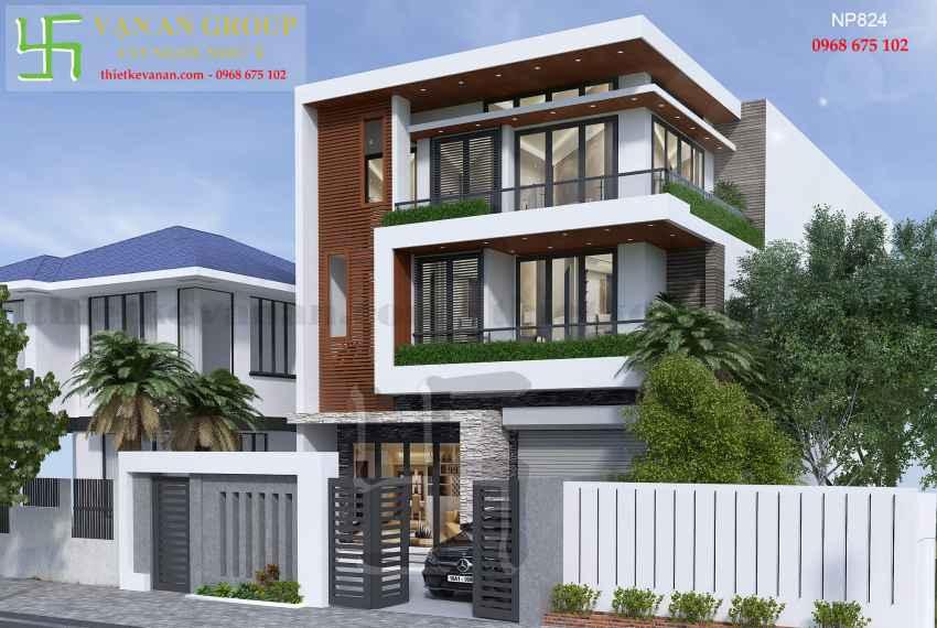 Nhà phố hiện đại 3 tầng đẹp tại Tp Phan Rang, Ninh Thuận NP 8242