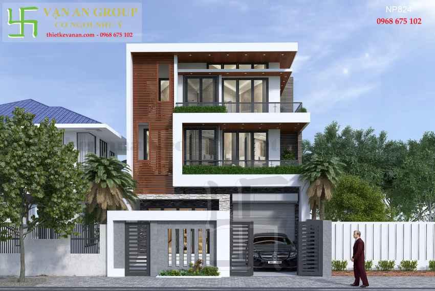 Nhà phố hiện đại 3 tầng đẹp tại Tp Phan Rang, Ninh Thuận NP 8243