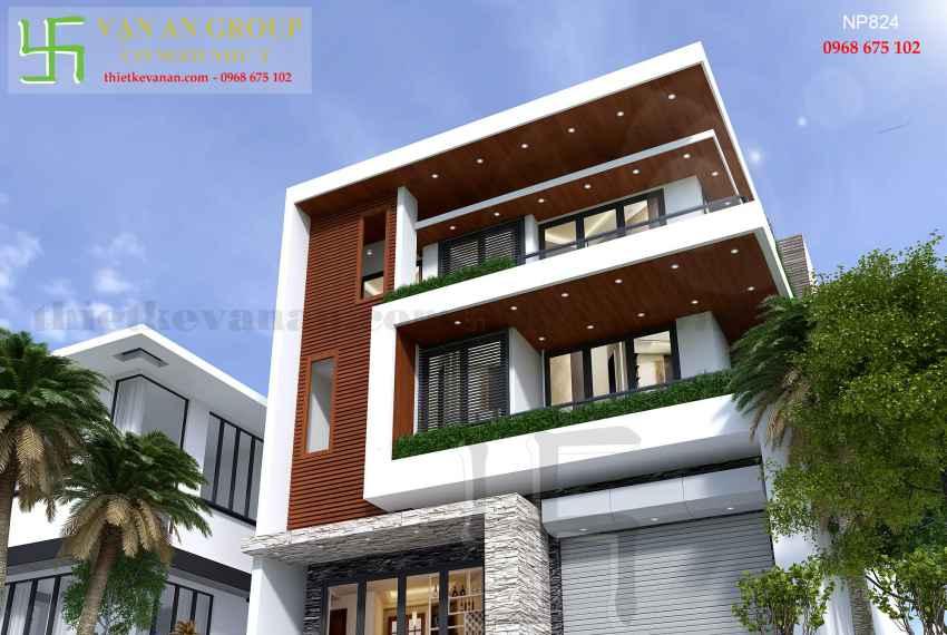 Nhà phố hiện đại 3 tầng đẹp tại Tp Phan Rang, Ninh Thuận NP 8245