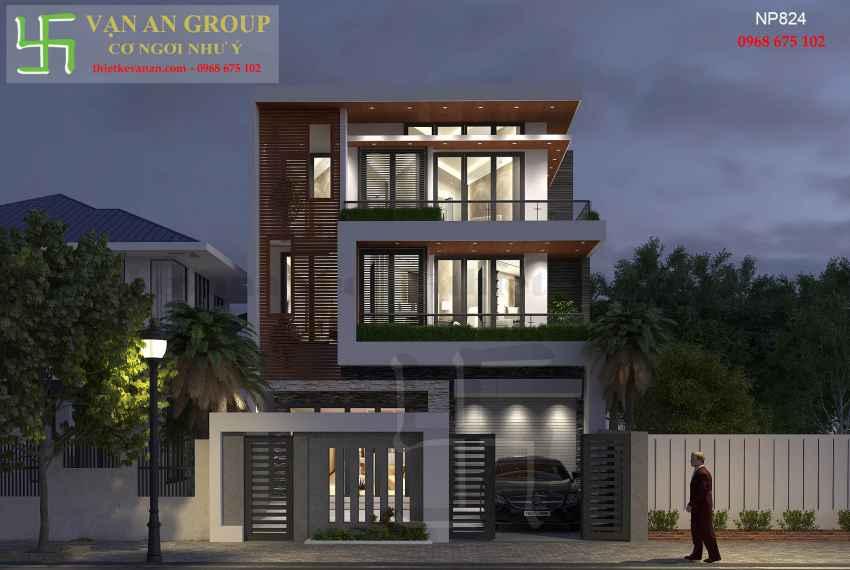 Nhà phố hiện đại 3 tầng đẹp tại Tp Phan Rang, Ninh Thuận NP 8247