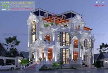 Thiết kế biệt thự 3 tầng đẹp kiến trúc tân cổ điển