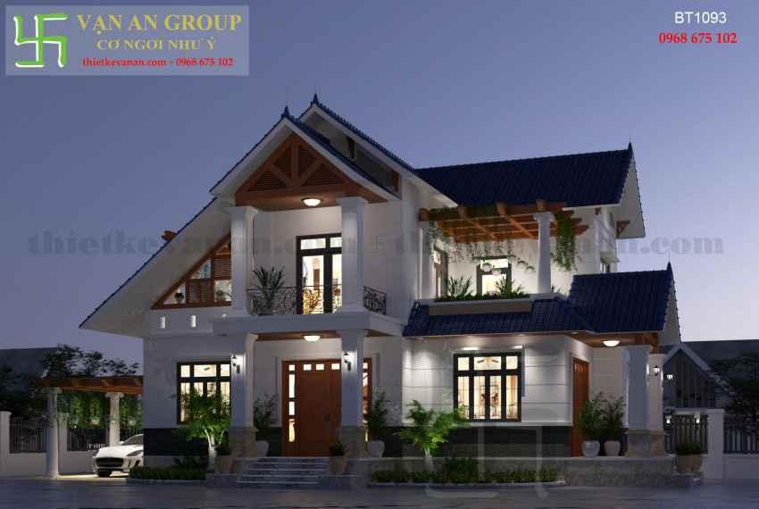 Biệt thự 2 tầng mái thái đẹp tại thành phố Tuy Hòa, Phú Yên BT 10938