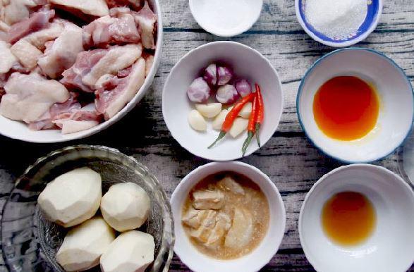 Nguyên liệu cho món vịt nấu chao 27111