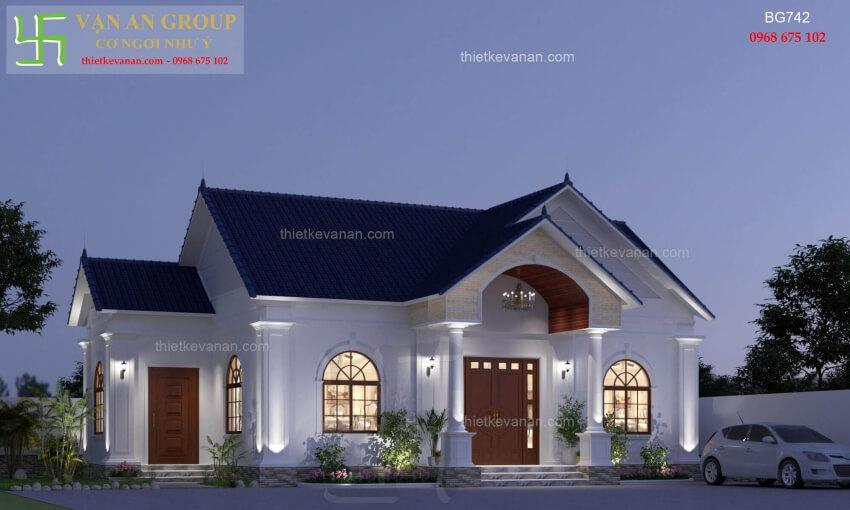 Nhà cấp 4 đẹp lung linh thiết kế vạn an group 2712197422
