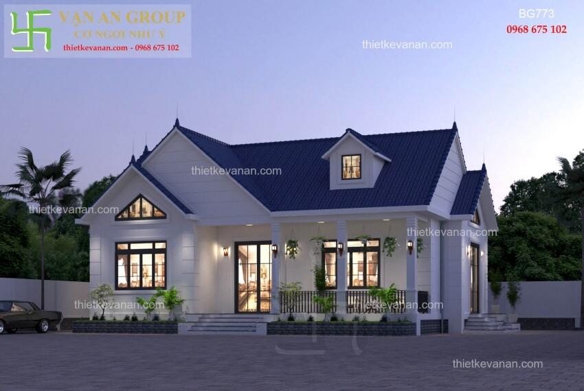 Nhà cấp 4 đẹp lung linh thiết kế vạn an group 2712197732