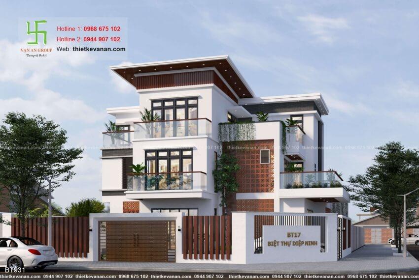 Thiết kế biệt thự hiện đại đẹp Thiết kế Vạn An Group 26129311
