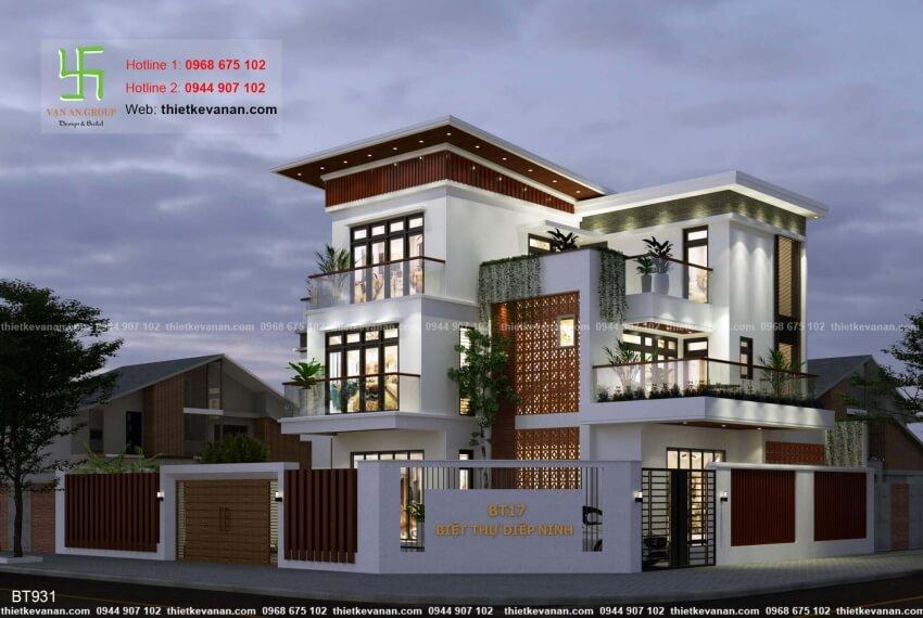 Thiết kế biệt thự hiện đại đẹp Thiết kế Vạn An Group 26129312