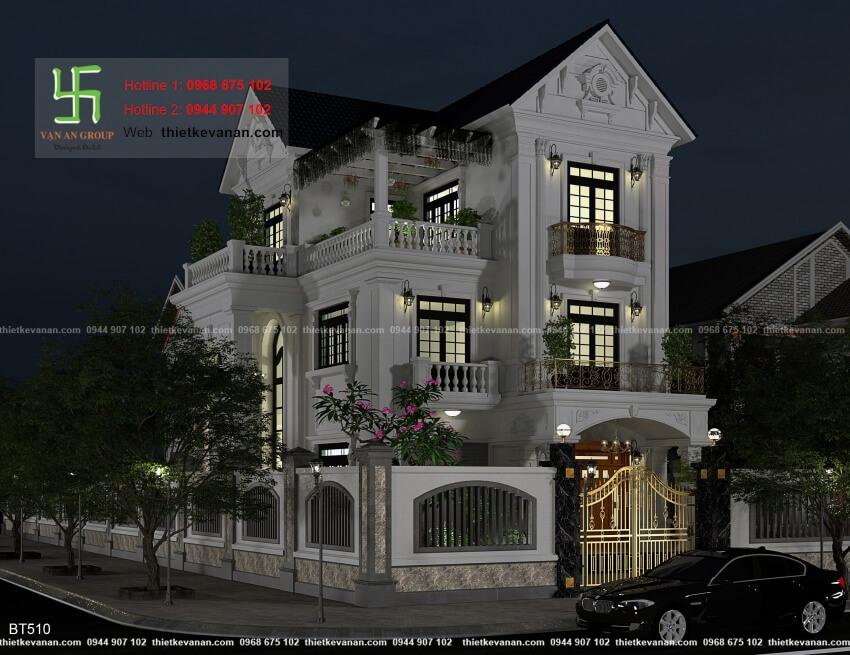 Thiết kế biệt thự mái thái đẹp Thiết kế Vạn An Group 26125102
