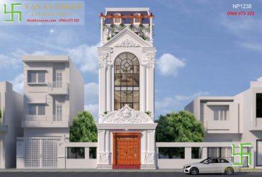 Mẫu nhà phố đẹp kiến trúc tân cổ điển Châu Âu sang trọng và đẳng cấp