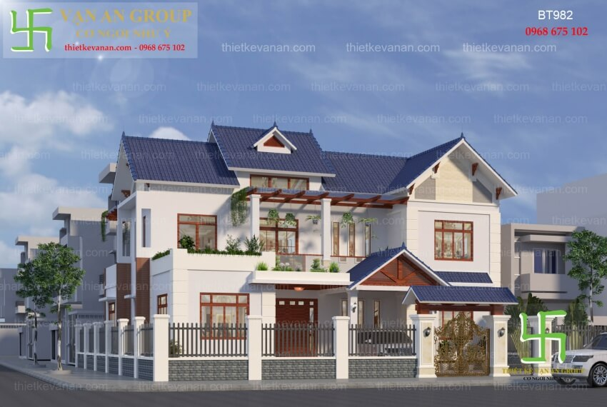 Thiết kế nhà đẹp của Vạn An Group Thiet-ke-biet-thu-2-tang-dep-lung-linh-9821
