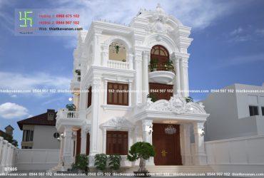 Mẫu nhà 3 tầng tân cổ điển đẹp tựa cổ tích BT 605