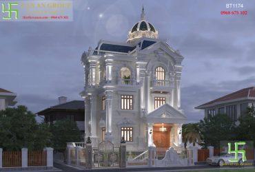 Biệt thự 3 tầng tân cổ điển đẹp say đắm BT 1174
