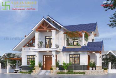 Mẫu nhà mái thái 2 tầng đẹp hết nấc BT 1093
