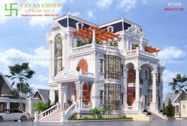 Mẫu thiết kế nhà đẹp 3 tầng kiến trúc châu Âu
