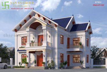 Nhà đẹp 2 tầng phong cách tân cổ điển BT 852