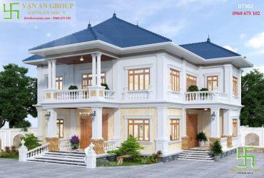 Thiết kế nhà đẹp 2 tầng tân cổ điển chinh phục trái tim mọi gia chủ