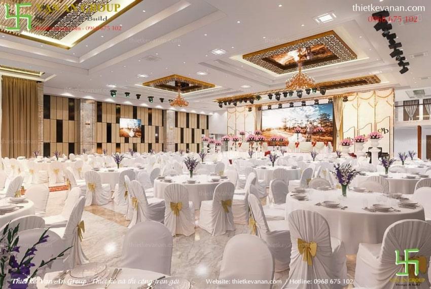 thiết kế nhà hàng tiệc cưới đẹp