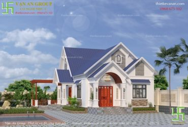 Biệt thự cấp 4 đẹp kiến trúc mái thái vạn người mê