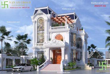 Luxury house design with unique neoclassical architecture