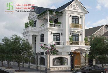 Mẫu nhà biệt thự 3 tầng mái Thái sang trọng