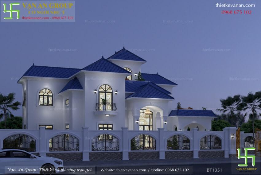 nhà 2 tầng kiến trúc pháp