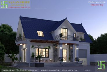 Nhà mái Thái gác lửng với thiết kế hiện đại sang trọng đẹp ấn tượng