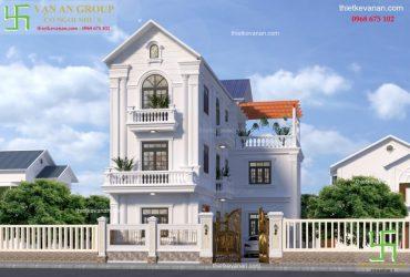 Nhà phố tân cổ điển 3 tầng sang trọng và đẳng cấp