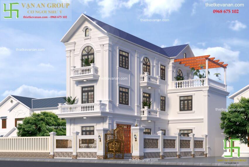 nhà phố tân cổ điển 3 tầng