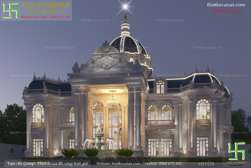 thiết kế lâu đài 2 tầng