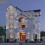 Nhà đẹp 3 tầng tân cổ điển xu hướng thiết kế của năm
