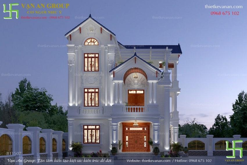 nhà đẹp 3 tầng tân cổ điển