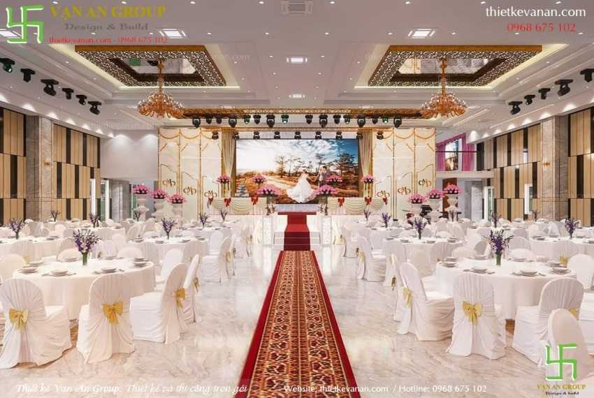 thiết kế nội thất nhà hàng tiệc cưới đẹp
