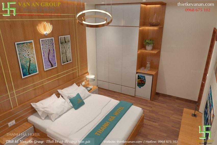 thiết kế nội thất phòng ngủ khách sạn