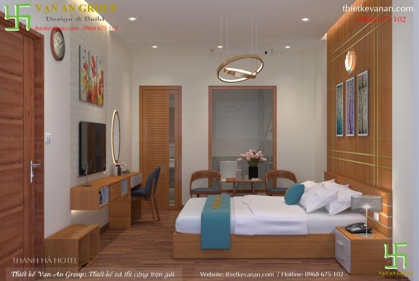 thiết kế nội thất phòng ngủ khách sạn đẹp