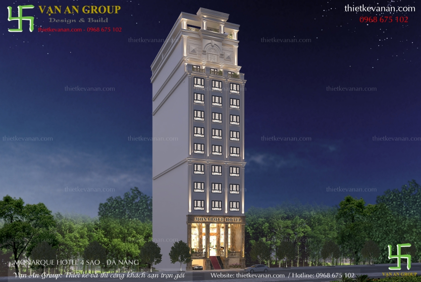 công ty thiết kế khách sạn 4 sao chuyên nghiệp