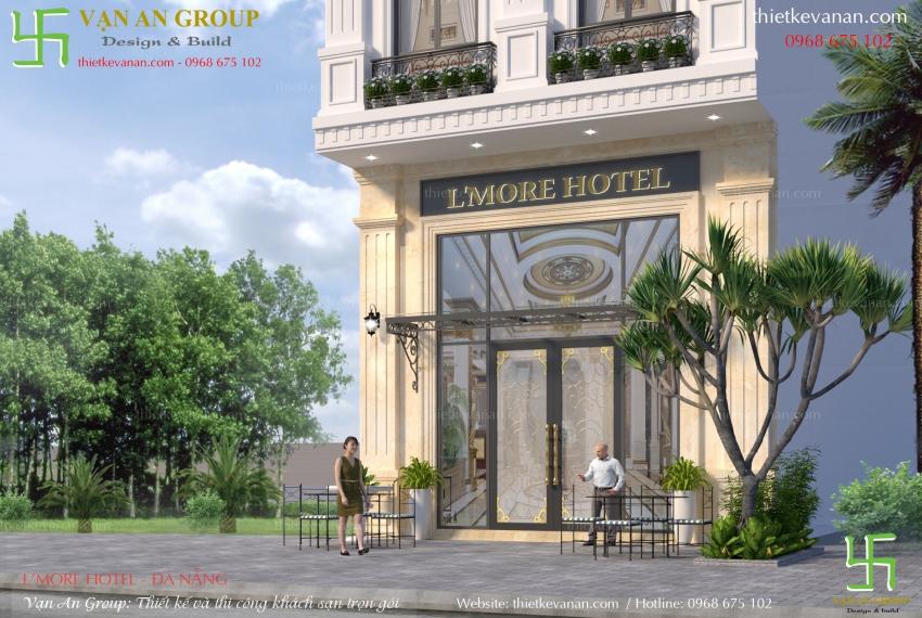 mẫu thiết kế khách sạn mini 8 tầng