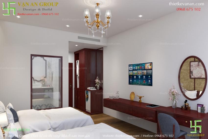 mẫu thiết kế phòng khách sạn đẹp