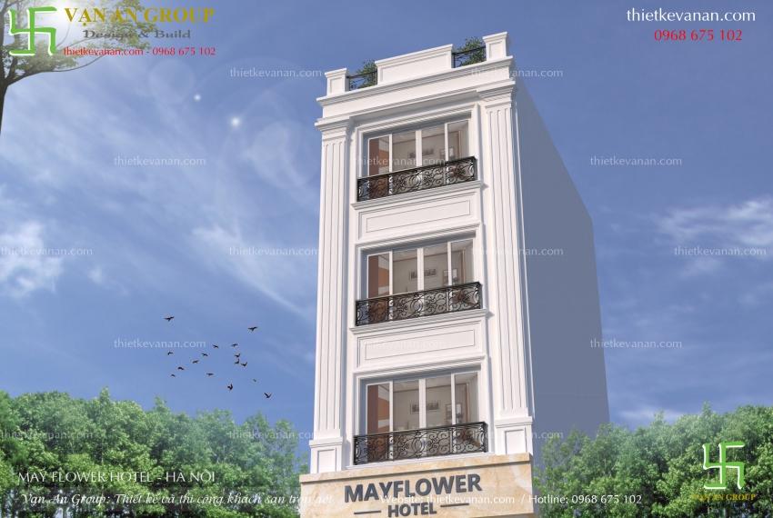 thiết kế khách sạn 4 tầng đẹp