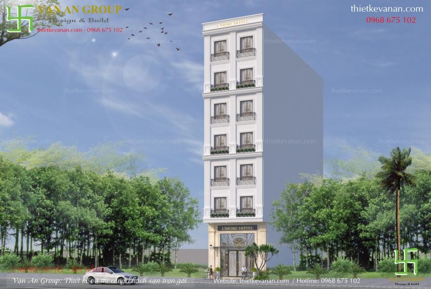 thiết kế khách sạn mini 8 tầng
