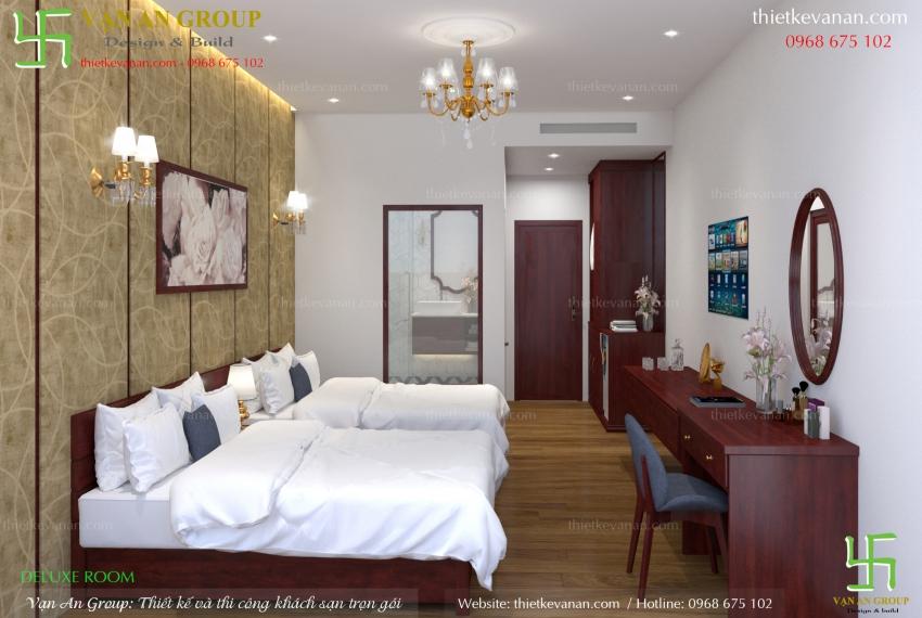 thiết kế phòng khách sạn 2 sao