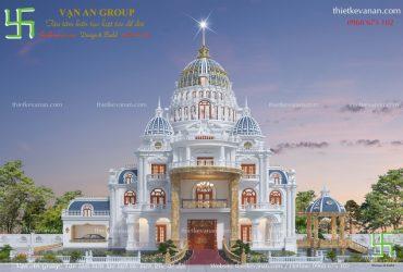Thiết kế lâu đài đại gia Ninh Bình đẹp lộng lẫy