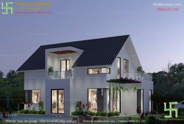 Thiết kế nhà cấp 4 gác lửng đẹp kiến trúc hiện đại