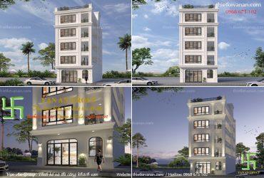 Thiết kế nhà cho thuê 5 tầng đẹp, xây nhà giá rẻ