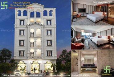 Thiết kế khách sạn 5 tầng kiến trúc Châu Âu đẹp mê mẩn